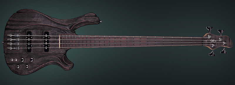 Unusual Hand-carved Electric Bass