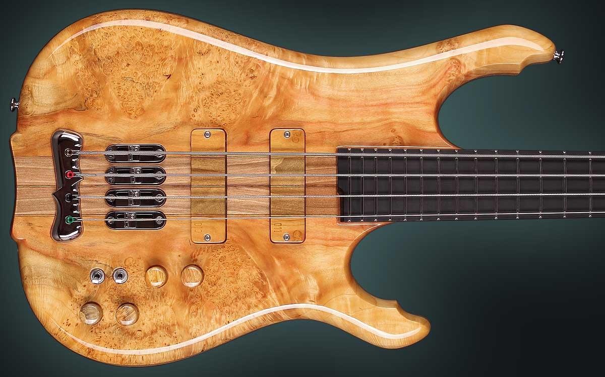 handmade guitar body - front