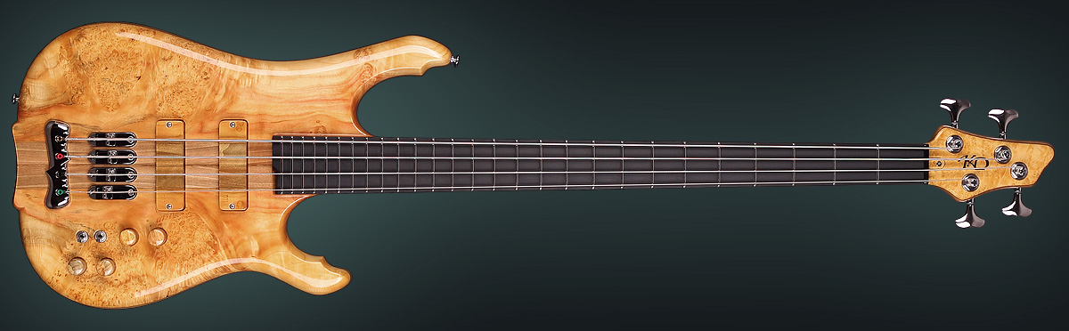 Unique handmade bass model