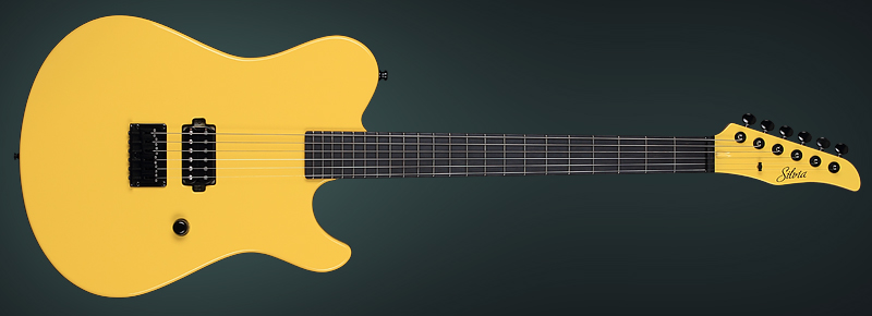 Yellow Chick Telestyle Guitar, Electric Guitar Handmade by the luthier KD - Kostadin Dimitrov