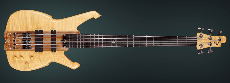 Handcrafted bass with handmade bridge
