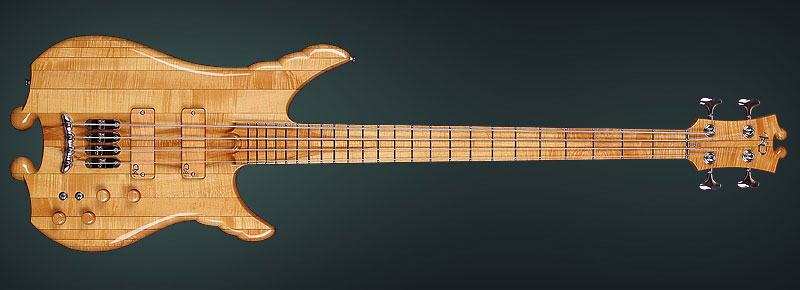 "High-End Bass Guitar ""Manta"" - Handmade by the hands of KD"