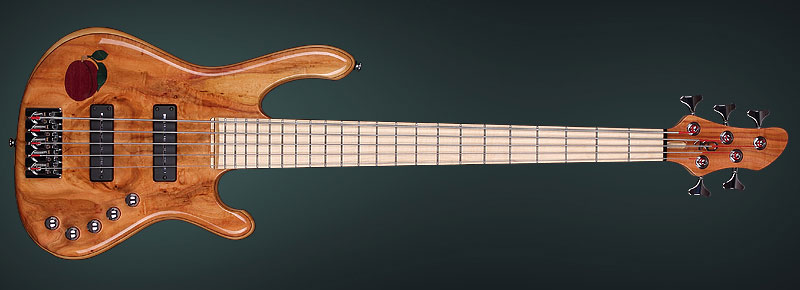 Custom electric bass made by luthier Kostadin Dimitrov