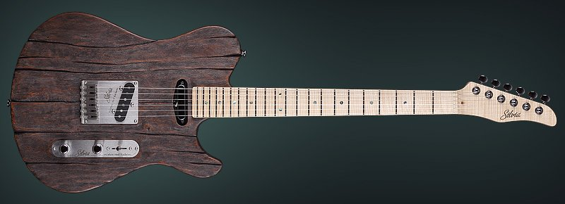 "Custom Made Electric Guitar - ""Silvia Black Magic"" by KD"